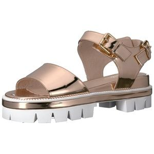 DITA ROSE GOLD PLATFORM SANDALS